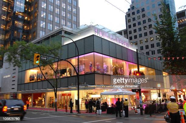 Atmosphere during Holt Renfrew Launch Party in Vancouver at Pacific Centre Holt Renfrew Store in Vancouver British Columbia Canada