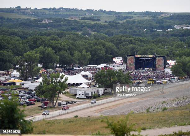 Atmosphere during Kicker Country Stampede - Day 2 at Tuttle Creek State Park on June 22, 2018 in Manhattan, Kansas.