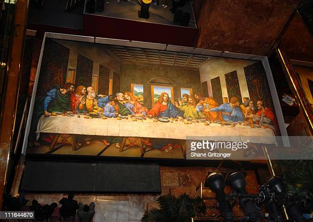 Atmosphere during Largest Replica of Leonardo Da Vinci's 'The Last Supper' To Set Guinness World Record to Celebrate The DVD Debut of 'The Da Vinci...
