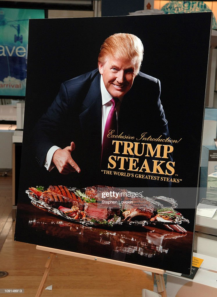 Launch of Trump Steaks at The Sharper Image : News Photo