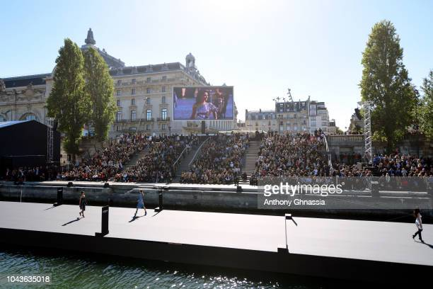 Atmosphere during Le Defile L'Oreal Paris as part of Paris Fashion Week Womenswear Spring/Summer 2019 on September 30 2018 in Paris France