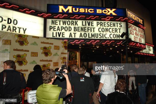 Atmosphere during Leblon Cachaca Presents The Peapod: A Concert Benefit with Black Eyed Peas - Red Carpet at Henry Fonda Music Box Theater in Los...