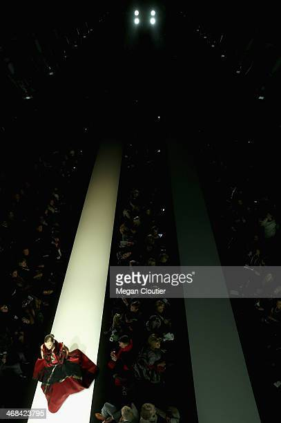 Atmosphere during Mercedes-Benz Fashion Week Fall 2014 at Lincoln Center for the Performing Arts on February 10, 2014 in New York City.