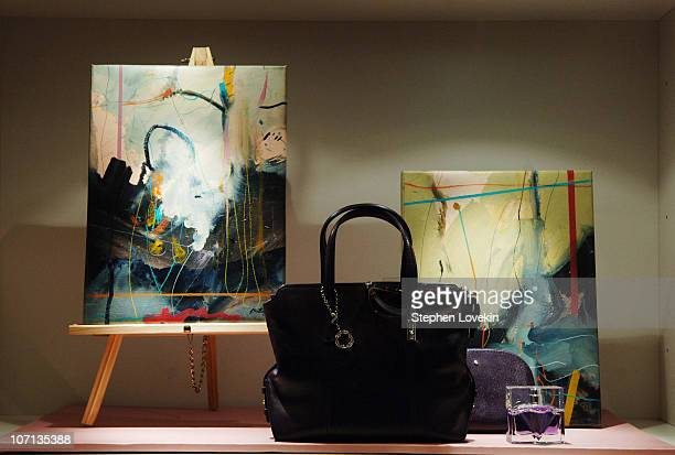 """Atmosphere during Montblanc and W Magazine Present """"The Love of The Poet"""" Art Exhibition by Daniel Bottero at Montblanc Boutique in New York, NY,..."""