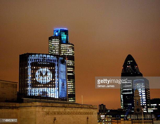 Atmosphere during Motorola Lights Up City of London for Launch of New Mobile Phone SLVR at Coq D'Argent in London Great Britain