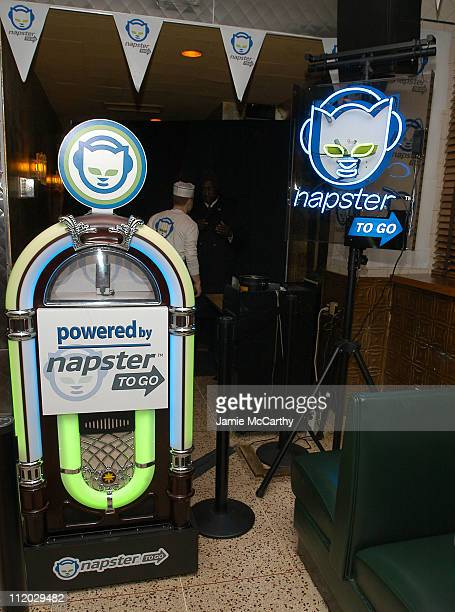 "Atmosphere during Napster Launches ""Napster To Go"" Cafe Tour with Free Music and MP3 Players at Coffee Shop in New York City, New York, United States."