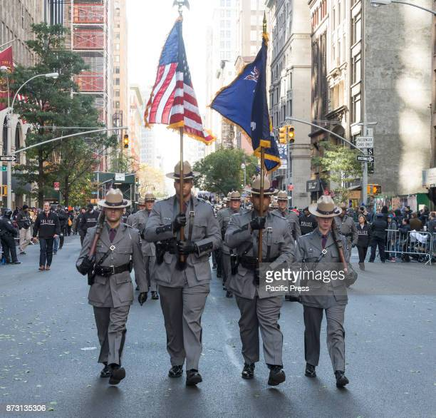 Atmosphere during New York 99th annual Veterans Day Parade on 5th Avenue