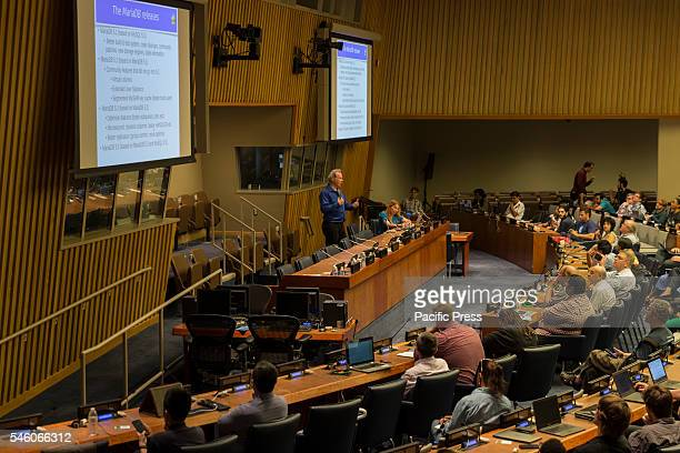 Atmosphere during Open Source Database Camp NYC at United Nations Headquarter