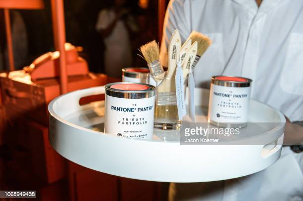 """Atmosphere during opening of the Pantone Pantry by Tribute Portfolio, """"Revealing the Pantone Color of the Year"""" at Royal Palm South Beach on December..."""