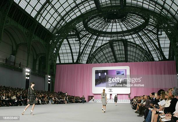 Atmosphere during Paris Fashion Week Pret a Porter Spring/Summer 2006 Chanel Front Row at Grand Palais in Paris France