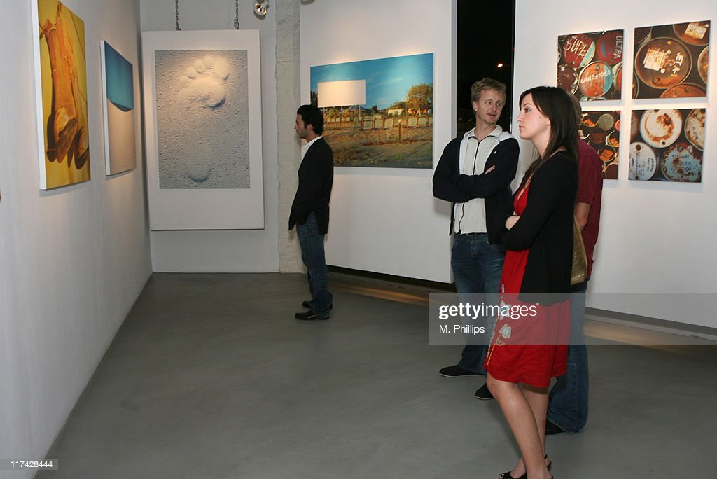 Atmosphere during photographer jason kimberleys australia exposed art exhibit opens australia week at gallery