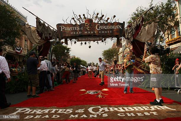 Atmosphere during 'Pirates of the Caribbean Dead Man's Chest' Los Angeles Premiere Arrivals at Main Street USA Disneyland in Anaheim California...