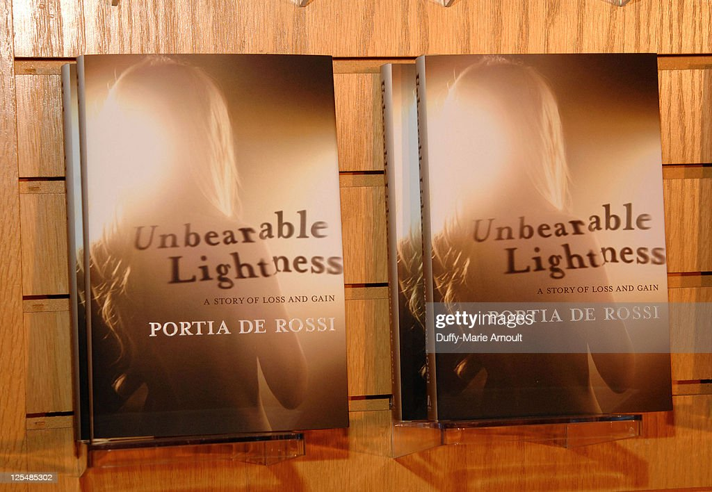 Atmosphere During Portia De Rossiu0027s Booksigning For Her New Book U0027Unbearable  Lightnessu0027 At Borders