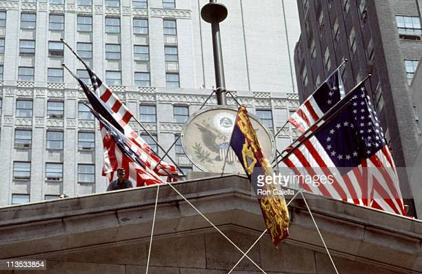 Atmosphere during Queen Elizabeth and Prince Philip Visit the New York Stock Exchange 1976 at New York Stock Exchange Wall Street in New York New...