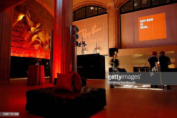908279b7d8 Atmosphere during Ray Ban Launches Never Hide Campaign at Guastavino's in New  York City New York