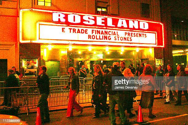 Atmosphere during Rolling Stones Concert at Roseland Arrivals at Roseland in New York City New York United States