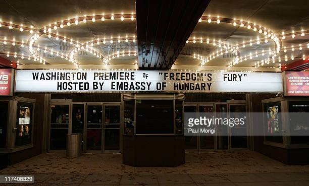 """Atmosphere during Screening of """"Freedom's Fury"""" in Washington, D.C. - November 17, 2006 at The Uptown Theater in Washington, DC, United States."""