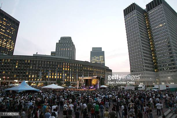 Atmosphere during Staind Album Release Concert for 'Chapter V' Presented by the Fusion Flash Concerts Series 9th August 2005 at City Hall Plaza in...