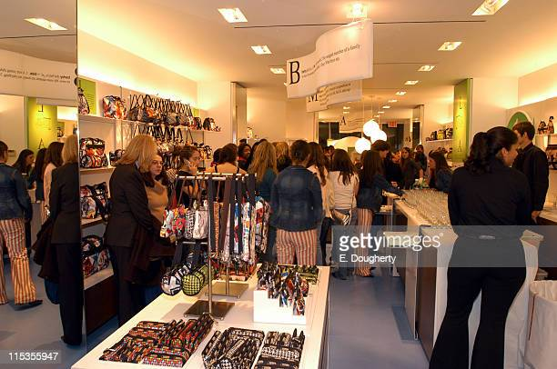 Atmosphere during Teen Vogue and LeSportsac Celebrate LAMB Collection at LeSportsac Store Madison Avenue in New York City New York United States