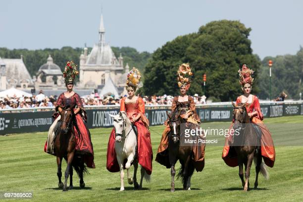 Atmosphere during the 168th 'Prix de Diane Longines' on June 18 2017 in Chantilly France