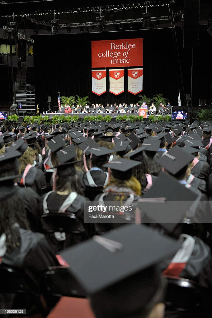 Atmosphere during the 2013 Berklee College Of Music Commencement Ceremony at Berklee College of Music on May 11, 2013 in Boston, Massachusetts.