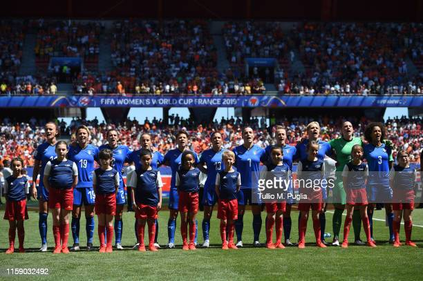Atmosphere during the 2019 FIFA Women's World Cup France Quarter Final match between Italy and and Netherlands at Stade du Hainaut on June 29 2019 in...