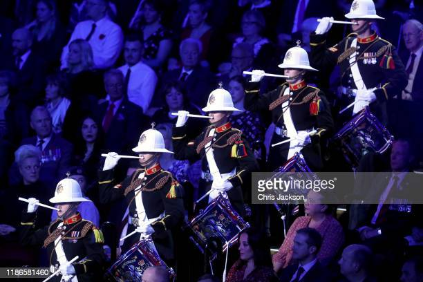 Atmosphere during the annual Royal British Legion Festival of Remembrance at the Royal Albert Hall on November 09 2019 in London England