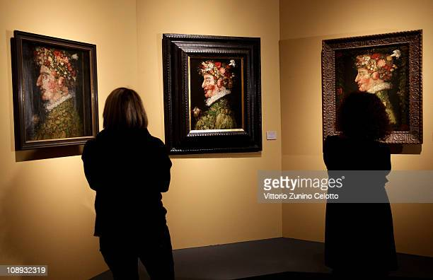 Atmosphere during the Arcimboldo exhibition press preview held at Palazzo Reale on February 9 2011 in Milan Italy