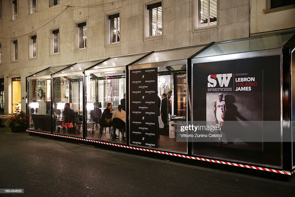 Atmosphere during the Audemars Piguet Cocktail on October 21, 2013 in Milan, Italy.