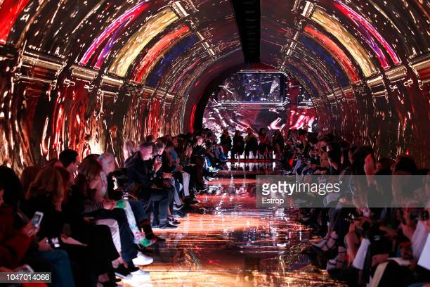 Atmosphere during the Balenciaga show as part of the Paris Fashion Week Womenswear Spring/Summer 2019 on September 29 2018 in Paris France