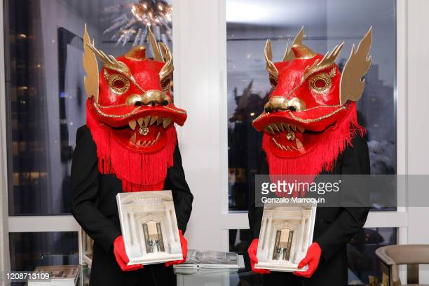 """Atmosphere during the book launch for """"A 21st Century Palace Asia"""" by Geoffrey Bradfield and Landry Design Group at The Residences at 35 Hudson Yards..."""