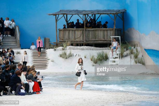 Atmosphere during the Chanel show as part of the Paris Fashion Week Womenswear Spring/Summer 2019 on October 2 2018 in Paris France