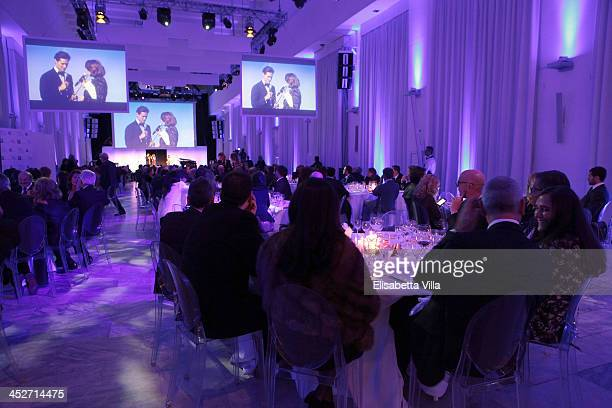 Atmosphere during The Children For Peace Benefit Gala Ceremony at Spazio Novecento on November 30 2013 in Rome Italy