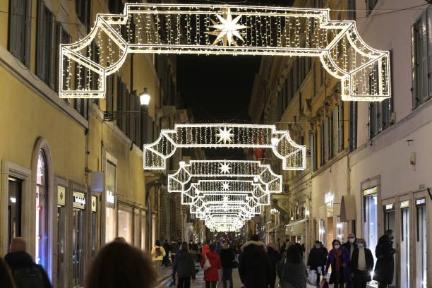 ITA: Christmas lights up in Via dei Condotti, Rome