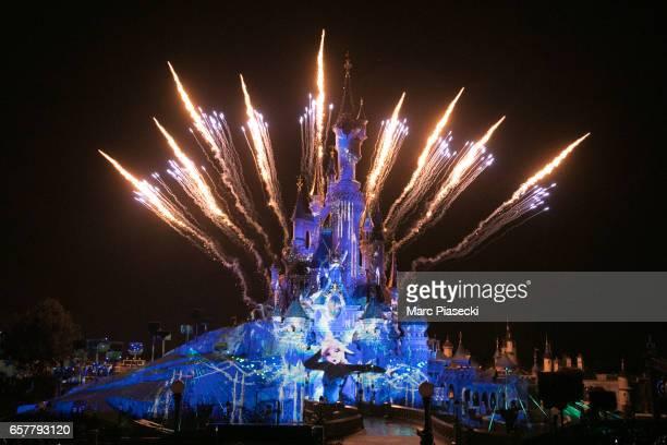 Atmosphere during the Disneyland Paris 25th Anniversary at Disneyland Paris on March 25, 2017 in Paris, France.