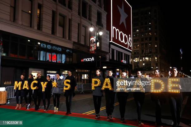 Atmosphere during the during the 93rd Annual Macy's Thanksgiving Day Parade rehearsals at Macy's Herald Square on November 26 2019 in New York City