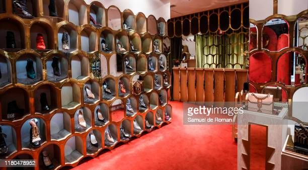 Atmosphere during the ELISA bag collection presentation at the Christian Louboutin store on November 6 2019 in Madrid Spain