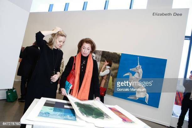 Atmosphere during the Elizabeth Dee gallery during the Independent Art Fair at Spring Studios on March 2 2017 in New York City