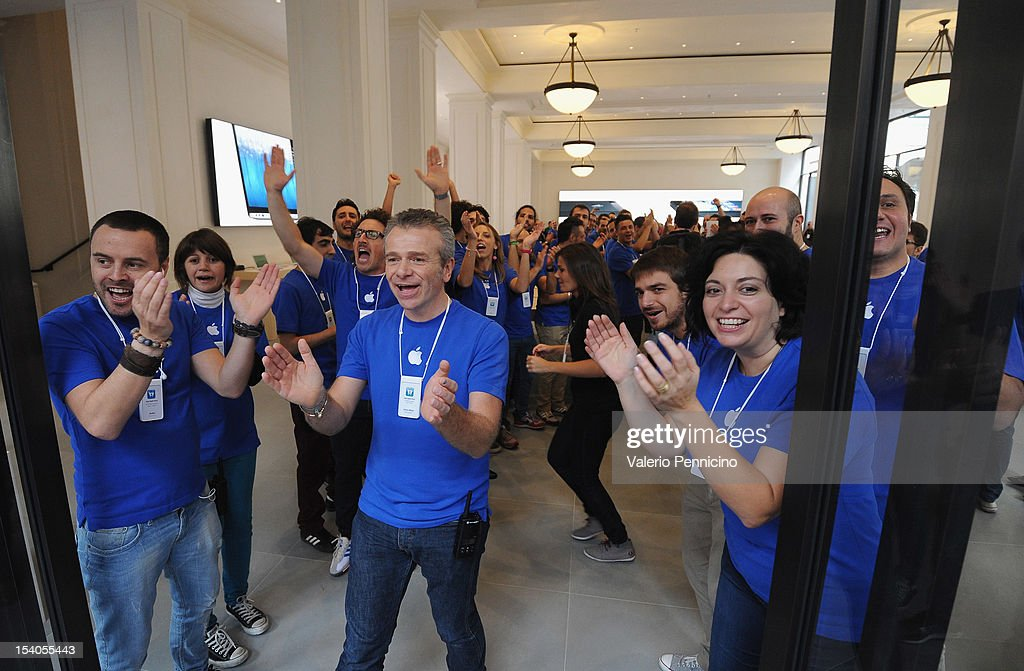 Apple Store Opening In Turin : News Photo
