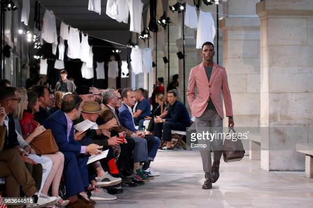 Atmosphere during the Hermes Menswear Spring/Summer 2019 show as part of Paris Fashion Week on June 23, 2018 in Paris, France.