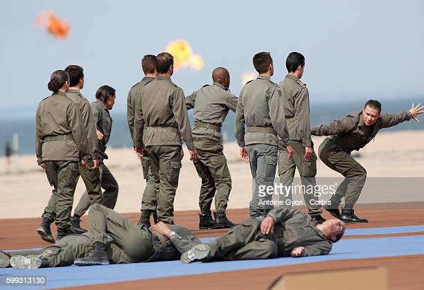 Atmosphere during the international D-Day commemoration ceremony in Ouistreham as part of the 70th anniversary of the World War Two D-Day landing,...