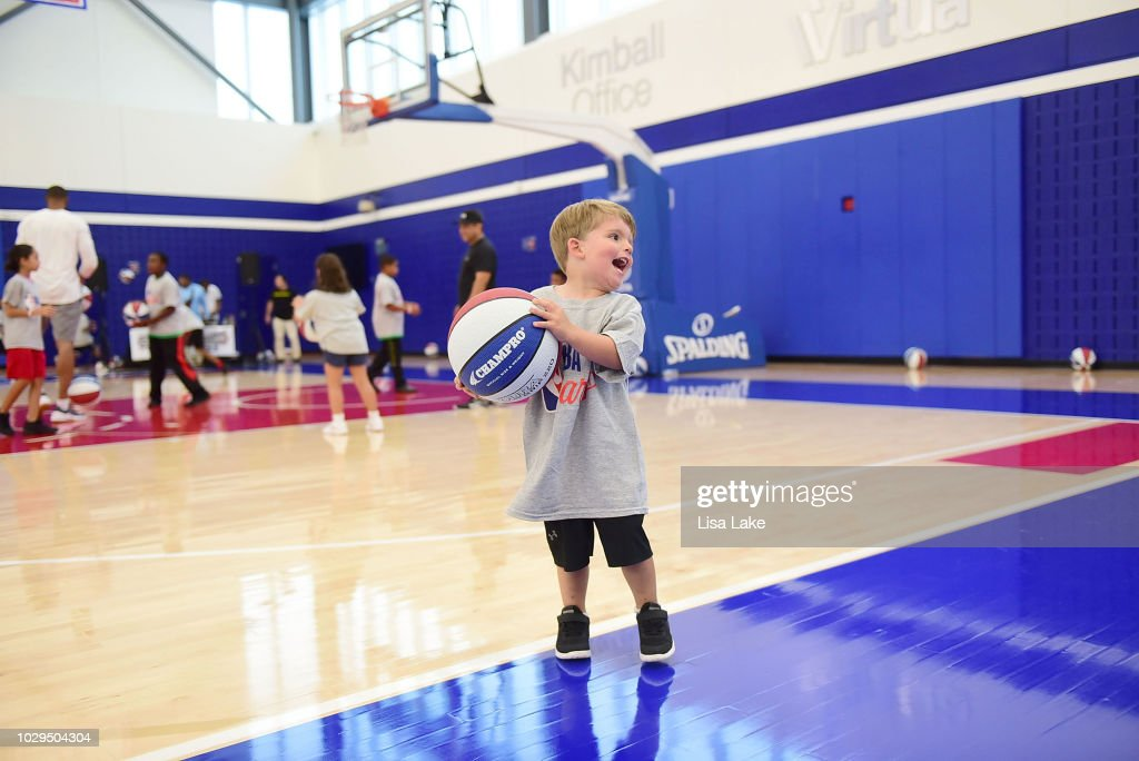 sale retailer 92c69 fdf48 Atmosphere during the Julius Erving Youth Basketball Clinic ...