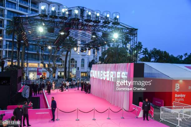 """Atmosphere during the Launch of the Official Competition and """"The Truth About The Harry Quebert Affair"""" screening during the 1st Cannes International..."""