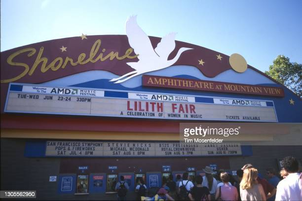 Atmosphere during the Lilith Fair at Shoreline Amphitheatre on June 24, 1998 in Mountain View, California.