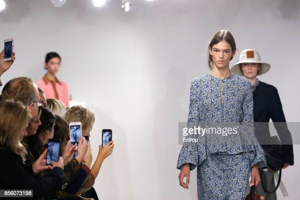 Atmosphere during the Loewe show as part of the Paris Fashion Week Womenswear Spring/Summer 2018 on September 29 2017 in Paris France