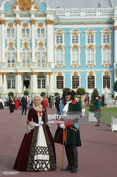 Atmosphere during the Mariinsky Ball of Montblanc White Nights Festival at Catherine Palace on June 19 2010 in Pushkin near Saint Petersburg Russia