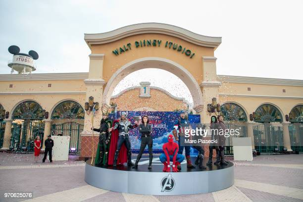 Atmosphere during the 'Marvel Summer of Super Heroes' opening ceremony at Disneyland Paris on June 9 2018 in Paris France