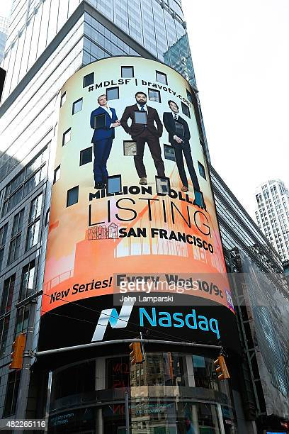 Atmosphere during the Nasdaq Stock Market opening bell celebrating the Million Dollar Listing San Francisco during opening bell at NASDAQ MarketSite...