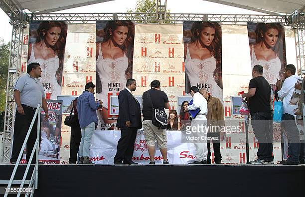 Atmosphere during the Ninel Conde H Para Hombres magazine signing at Plaza Cuicuilco on November 16 2010 in Mexico City Mexico