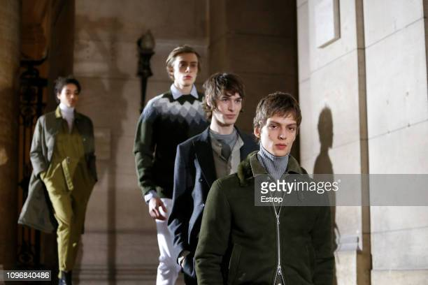 Atmosphere during the Officine Generale Menswear Fall/Winter 20192020 show as part of Paris Fashion Week on January 20 2019 in Paris France